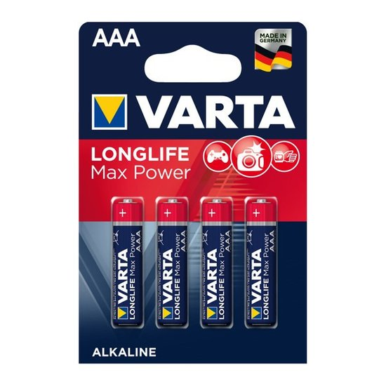 Longlife Max Power AAA Batteries (Varta)