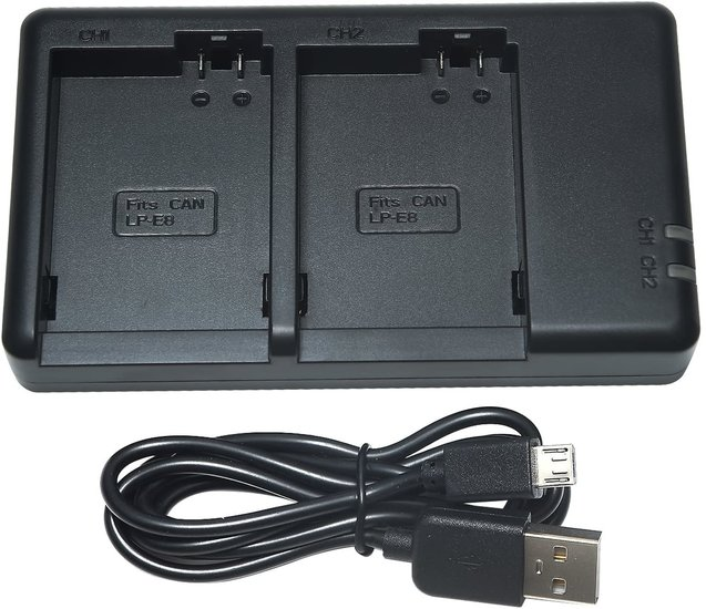 LP-E8 USB Dual Charger (Canon)
