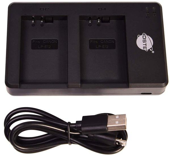 LP-E12 USB Dual Charger (Canon)