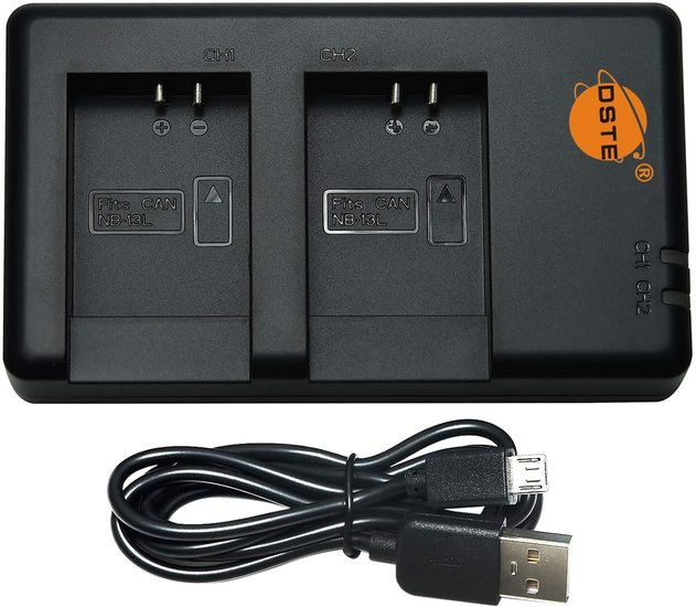 NB-13L USB Dual Charger (Canon)